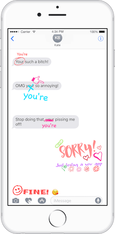 My Comment - Annotate Sticker Maker App for iMessage (Secret weapon